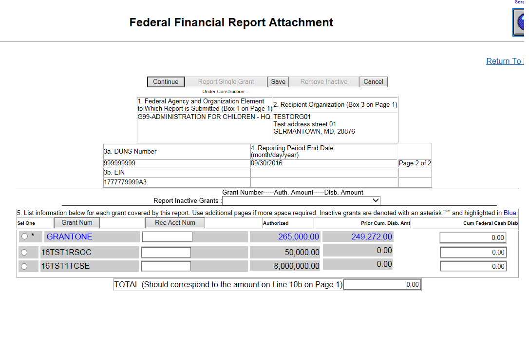 Screen shot of the FCTR Report Attachment page 4.